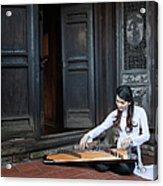Vietnamese Ao Dai Playing Orchestra Acrylic Print