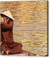 Vietnamese Boatman 01 Acrylic Print