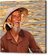 Vietnamese Boatman 02 Acrylic Print