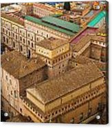 View Above Downtown Of Rome Acrylic Print