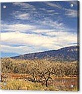 View Across The Rio Grande River Huge Panorama Acrylic Print
