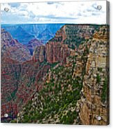 View Five From Walhalla Overlook On North Rim Of Grand Canyon-arizona Acrylic Print