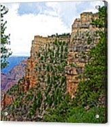 View Four From Walhalla Overlook On North Rim Of Grand Canyon-arizona Acrylic Print