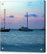View From A Catamaran3 - Aruba Acrylic Print