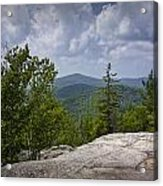 View From A Mountain In A Vermont Acrylic Print