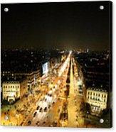 View From Arc De Triomphe - Paris France - 011318 Acrylic Print