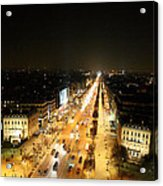 View From Arc De Triomphe - Paris France - 011319 Acrylic Print by DC Photographer