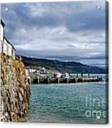 View From Back Beach - Lyme Regis Acrylic Print