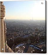 View From Basilica Of The Sacred Heart Of Paris - Sacre Coeur - Paris France - 011310 Acrylic Print