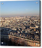 View From Basilica Of The Sacred Heart Of Paris - Sacre Coeur - Paris France - 011328 Acrylic Print by DC Photographer