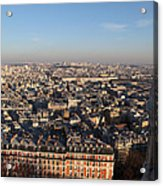 View From Basilica Of The Sacred Heart Of Paris - Sacre Coeur - Paris France - 011330 Acrylic Print by DC Photographer