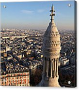 View From Basilica Of The Sacred Heart Of Paris - Sacre Coeur - Paris France - 011332 Acrylic Print