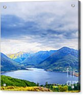 View From Bealach Ratagan To The Five Sisters Of Kintail Acrylic Print