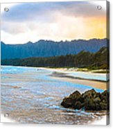 View From Bellows At Kaneohe Acrylic Print