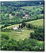 View From Castello Vicchiomaggio Acrylic Print