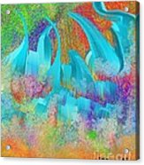 View From Central Park Abstract Painting Acrylic Print