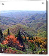 View From Devil's Courthouse Mountain Acrylic Print