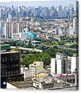 View From Edificio Martinelli 2 - Sao Paulo Acrylic Print