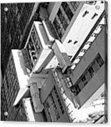 View From Edificio Martinelli Bw - Sao Paulo Acrylic Print