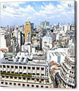 View From Edificio Martinelli - Sao Paulo Acrylic Print