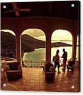 View From Hawks Nest Villa In Virgin Islands Acrylic Print