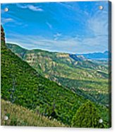 View From Knife Edge Road Overlooking Montezuma Valley In Mesa Verde National Park-colorado   Acrylic Print