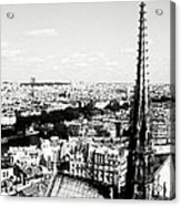 View From Notre Dame Acrylic Print