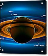 View From Saturn By Nasa's Cassini Spacecraft Acrylic Print