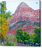 View From South Campground In Zion Np-ut Acrylic Print
