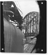 View From The Cab Of A Gg1 Acrylic Print