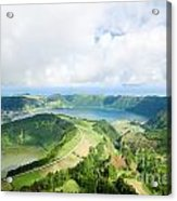 View From The Top Of Sete Cidades Acrylic Print
