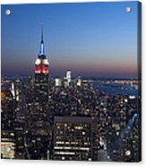 View From The Top Of The Rock Acrylic Print by David Yack