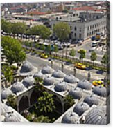 View From The Valens Aqueduct In Istanbul Acrylic Print