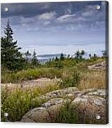 View From Top Of Cadilac Mountain In Acadia National Park Acrylic Print