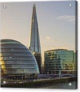 View From Tower Bridge London Acrylic Print