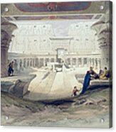 View From Under The Portico Of Temple Acrylic Print by David Roberts