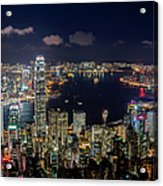 View From Victoria Peak, Hong Kong Acrylic Print