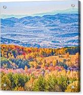 View From Vitosha Mountain Near Sofia City Acrylic Print