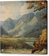 View In Borrowdale Of Eagle Crag And Rosthwaite Acrylic Print