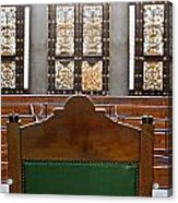 View Into Courtroom From Judges Chair Acrylic Print
