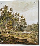 View Near Point Du Galle, Ceylon, Engraved By Daniel Havell 1785-1826 Published In 1809 Coloured Acrylic Print