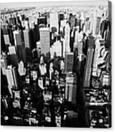 View North And Down Towards Central Park From Empire State Building Acrylic Print