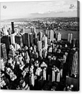 View North East Of Manhattan Queens East River From Empire State Building Acrylic Print by Joe Fox
