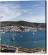 View Of A Harbor From A Castle, St Acrylic Print