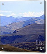 View Of Absaroka Mountains From Mount Washburn In Yellowstone National Park Acrylic Print
