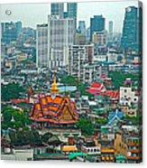 View Of Bangkok Buildings From Grand China Princess Hotel In Bangkok-thail Acrylic Print