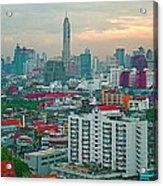 View Of Bangkok Near Dusk From Grand China Princess Hotel In Bangkok-thailand Acrylic Print