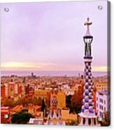 View Of Barcelona Acrylic Print by Maeve O Connell