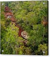 View Of Cano Cristales In Colombia Acrylic Print