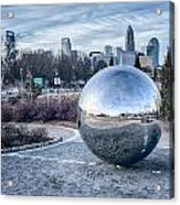 View Of Charlotte Nc Skyline From Midtown Park Acrylic Print